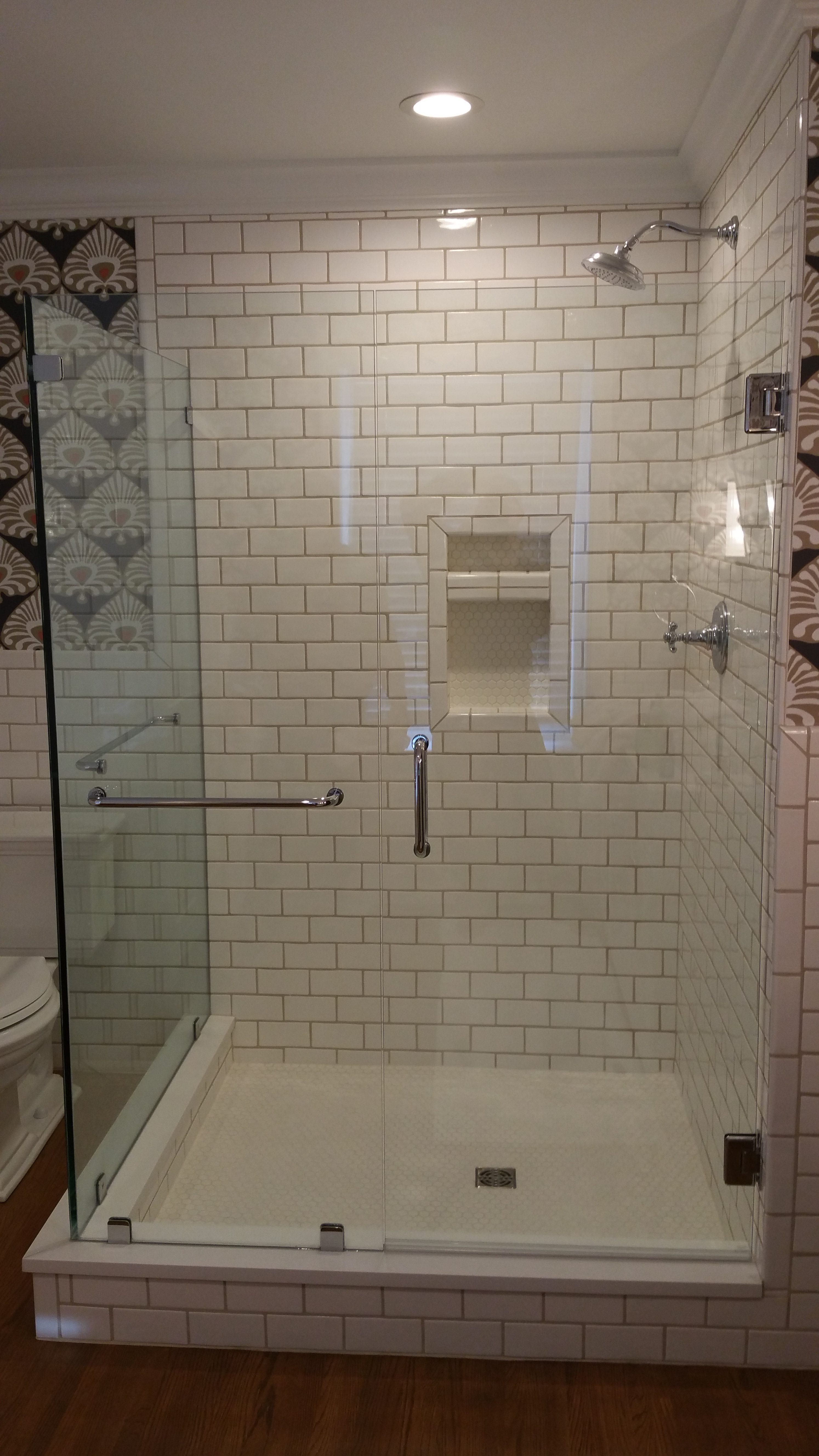 Classic Subway Tile Master Bath Eagle Construction