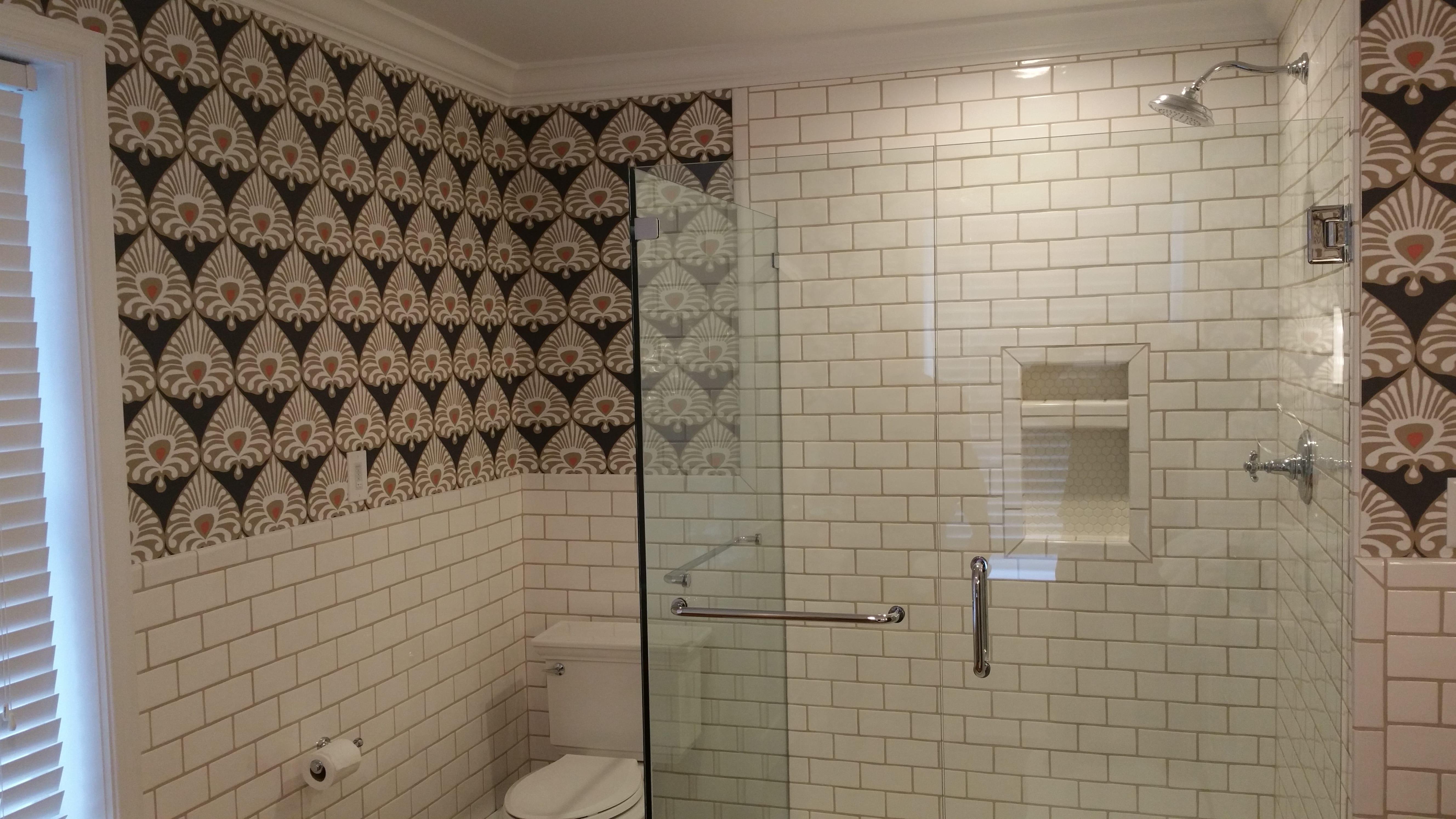 Classic Subway Tile Master Bath Eagle Construction
