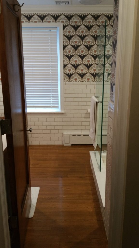 classic subway tile bathroom remodel