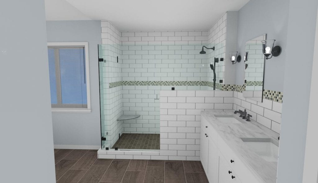Smith Master Bath Shower 3D Concept