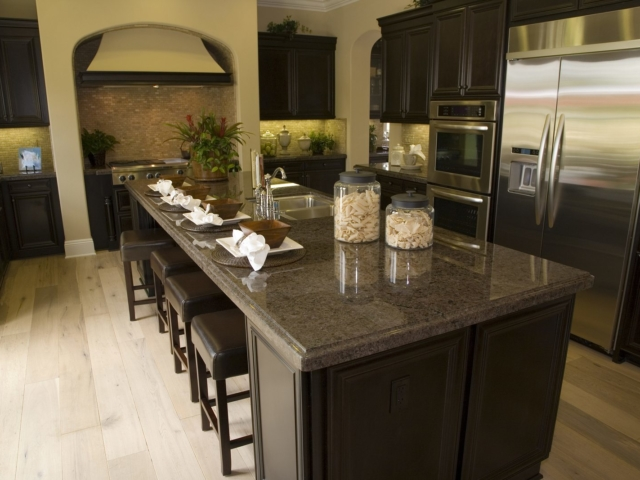 A luxury kitchen that would have a high value
