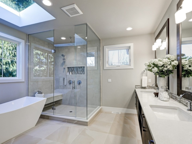 A luxury bathroom that would have high value when a home is sold