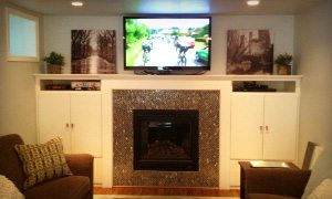 An example of basement remodel work by Eagle Construction & Remodeling