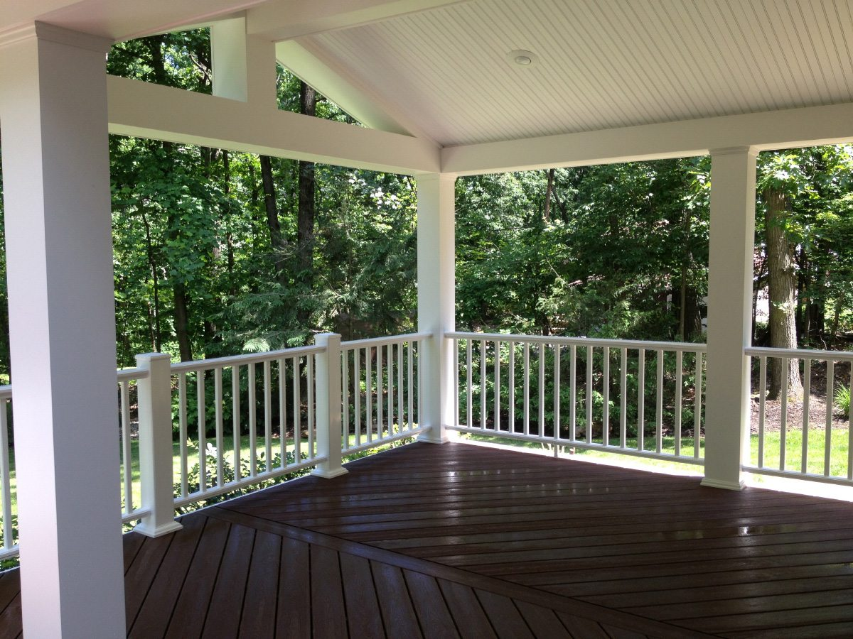 Deck with custom trim work done by Eagle Construction & Remodeling