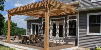 Cedar Pergola Deck