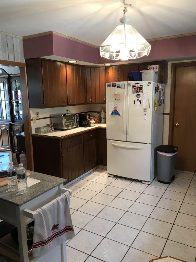 Allen Kitchen Remodel Refrigerator Before
