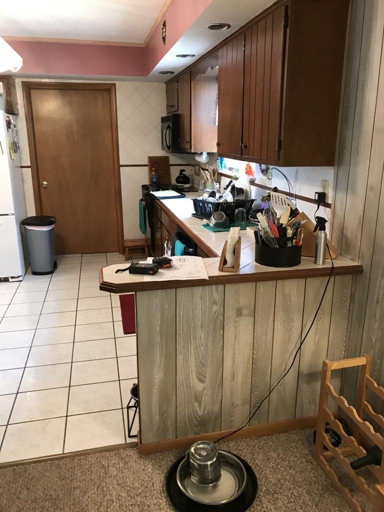 Allen Kitchen Remodel Counter Before
