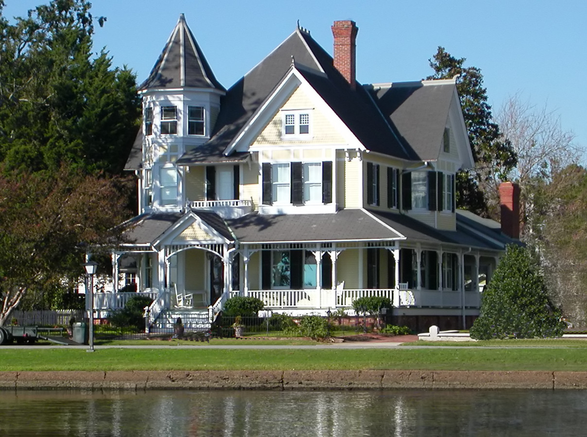 a fully restored Victorian house in the south.