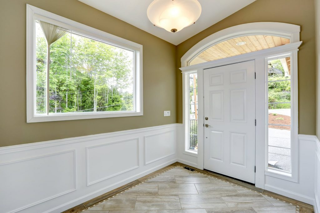 Door and window trim that was completed by a trim carpenter