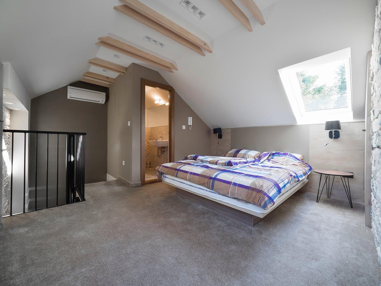 remodeled attic bedroom