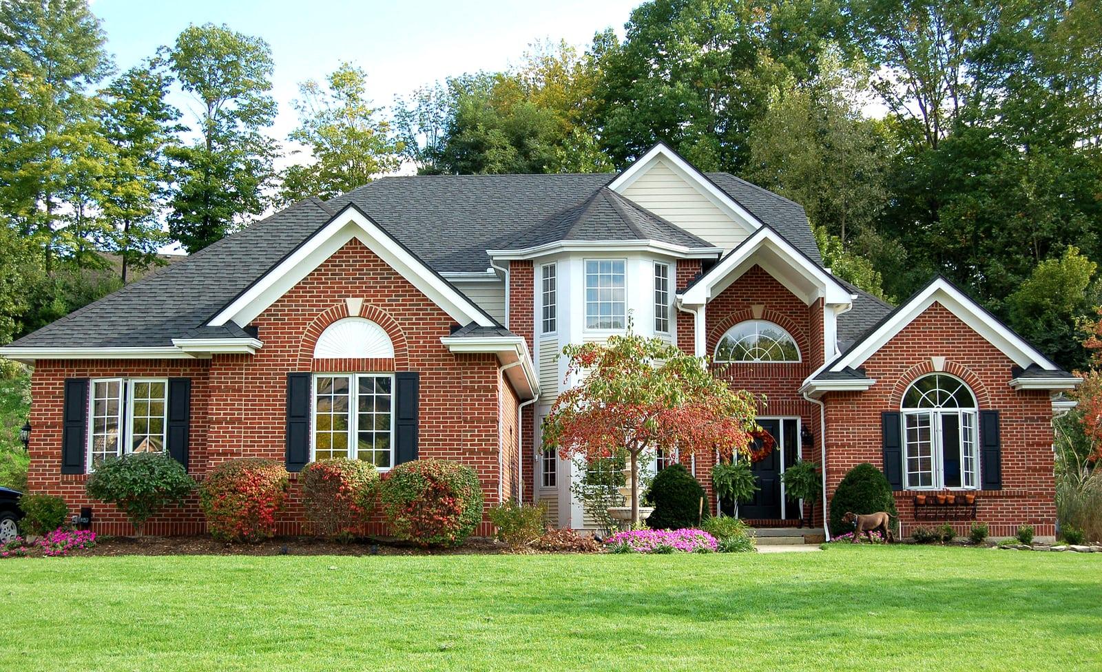 home with a brick exterior