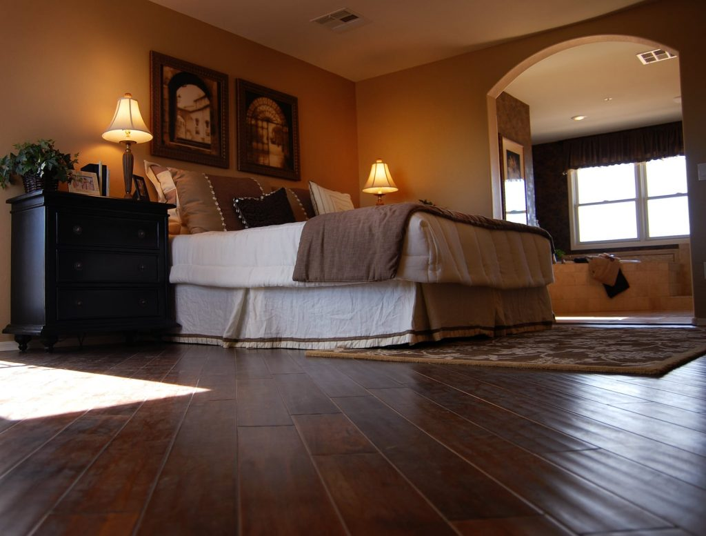 hardwood flooring in nice bedroom