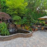 a well-planned patio with landscaping