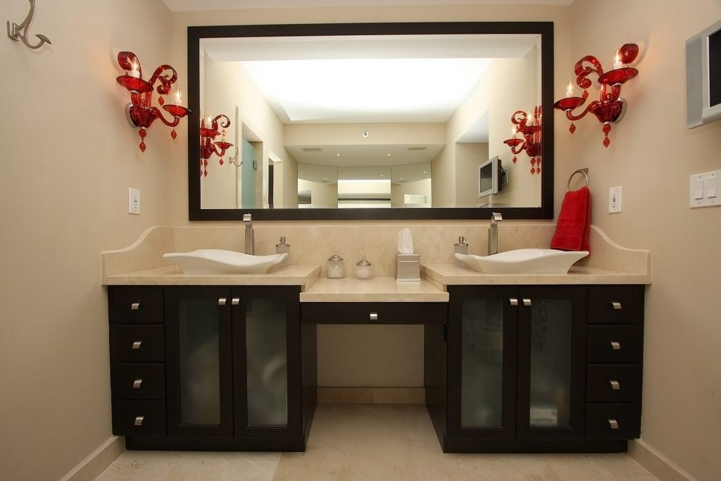 Beautifully designed bathroom in a luxury condo.