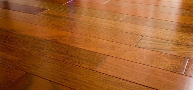 wide angle of brazilian cherry hardwood floor