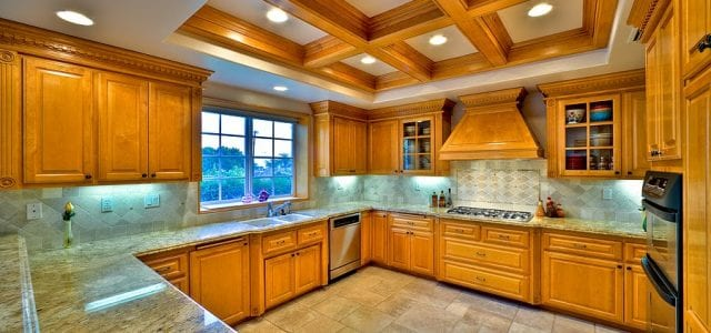 well-lit kitchen