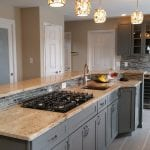 New remodeled kitchen counter tiles