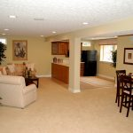 nicey decorated full finished basement in a luxury home